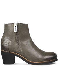 Shabbies-Laarsjes-Ankle Boot Nappa-Grijs