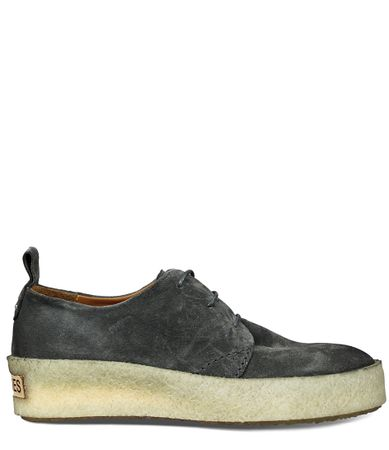 Shabbies-Sneakers-Lace Up Shoe Suede-Groen