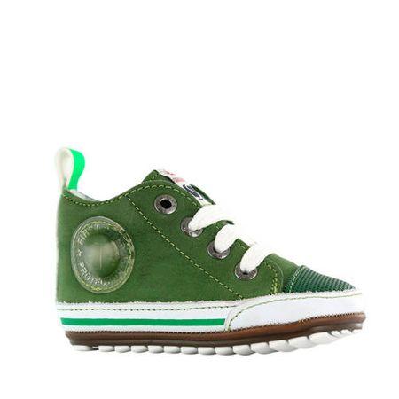 Shoesme BP20S004-B leren sneakers groen