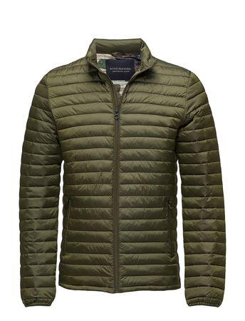 Simple Quilted Fake Down Jacket