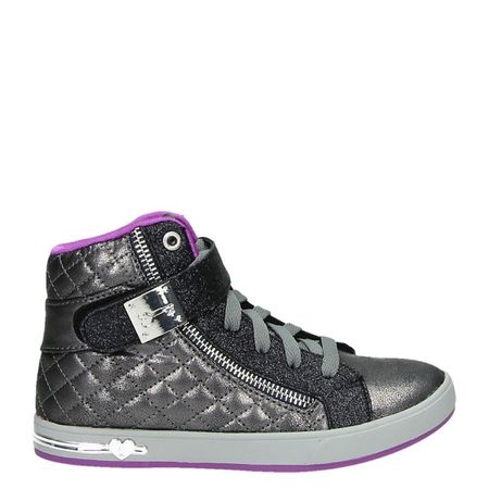 Skechers Shoutouts Quilted Crush hoge sneakers grijs