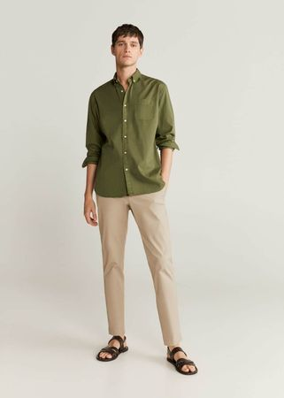 Slim-fit overhemd van 100% katoen