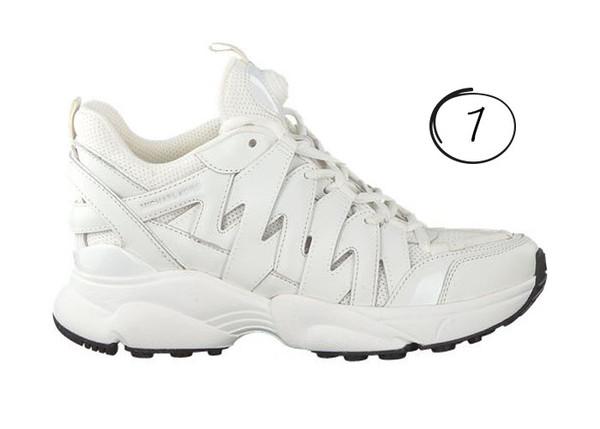 witte sneakers sale Michael kors hero trainer