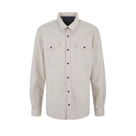 s.Oliver corduroy regular fit overhemd lichtgrijs