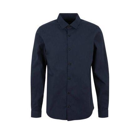 s.Oliver regular fit overhemd blauw