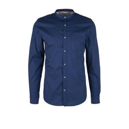 s.Oliver slim fit overhemd blauw