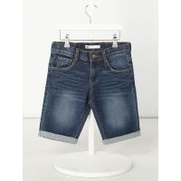 Stone-washed jeansshorts met stretch