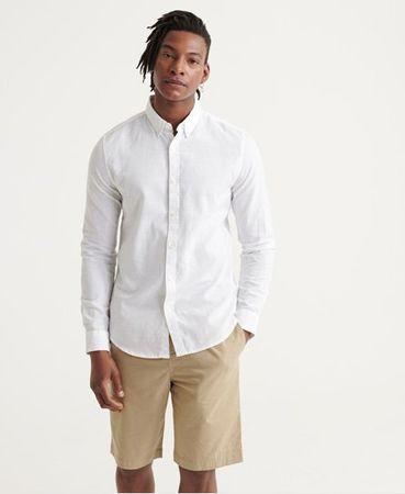Superdry Edit linnen buttondown overhemd