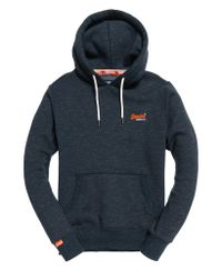 Superdry Orange Label Classic Hooded Sweater Navy