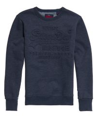 Superdry Premium Goods Classic Sweater Blauw
