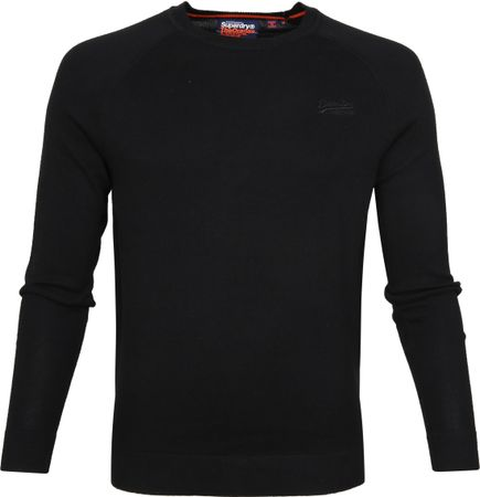 Superdry Pullover Cotton Crew Black