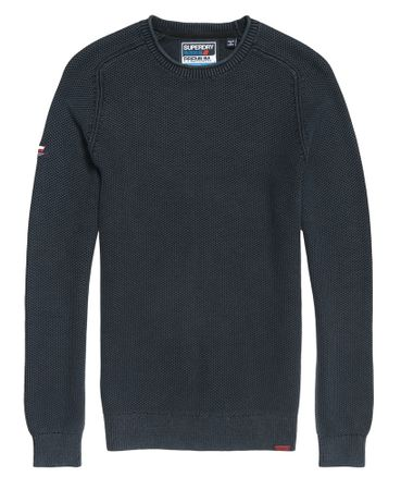 Superdry Sweater L.A. Textured Crewneck Dry Storm Navy