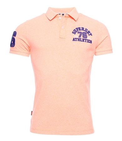 Superdry T-shirts Classic Superstate Short Sleeve Polo Oranje