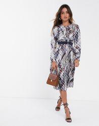 Ted Baker - Lilis - Midi-jurk met quartz-print-Multi