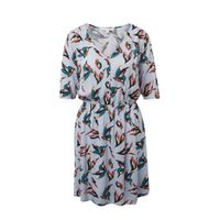 Tom Tailor Denim jurk met all over print blauw multi