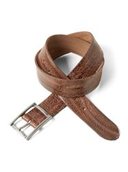 TOM TAILOR leren riem leren riem in vintage-look