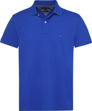 Tommy Hilfiger Polo Regular Fit Blauw   S