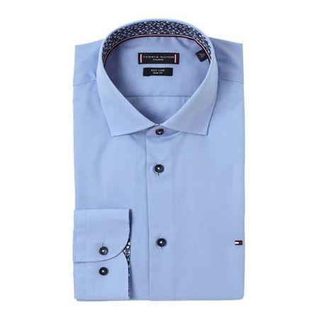 Tommy Hilfiger Tailored slim fit overhemd blauw
