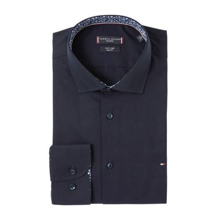 Tommy Hilfiger Tailored slim fit overhemd donkerblauw