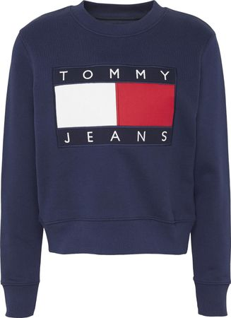 TOMMY JEANS sweatshirt TJW TOMMY FLAG CREW