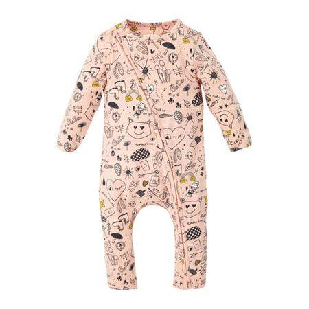 Tumble 'n Dry Lo baby boxpak Jon met biologisch katoen roze/zwart/geel