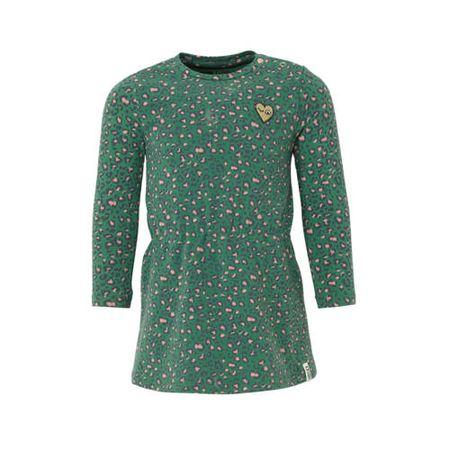 Tumble 'n Dry Lo jersey jurk Jira met biologisch katoen donkergroen/lichtroze/antraciet/goud