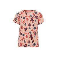 Tumble 'n Dry Lo T-shirt Estelle met alloverprint lichtoranje
