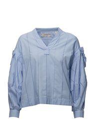 V-Neck Cotton Top T-shirts & Tops Long-sleeved Blauw SCOTCH & SODA