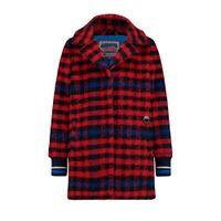 Vingino geruite winterjas Temny rood/zwart/blauw