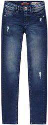Vingino Meisjes Flex-Fit High Waist Jeans - Dark Used