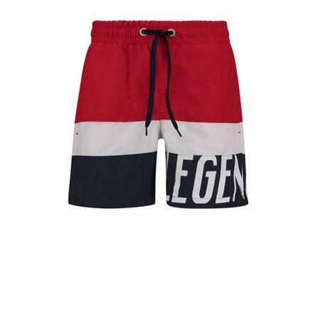 Vingino zwemshort rood/wit/blauw