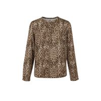 WE Fashion blouse met panterprint bruin