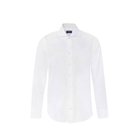 WE Fashion Van Gils slim fit overhemd white uni